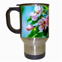 Crab Apple Flowers Travel Mugs (white) by FunnyCow