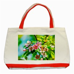 Crab Apple Flowers Classic Tote Bag (red) by FunnyCow