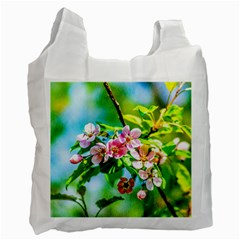 Crab Apple Flowers Recycle Bag (one Side) by FunnyCow
