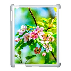 Crab Apple Flowers Apple Ipad 3/4 Case (white) by FunnyCow