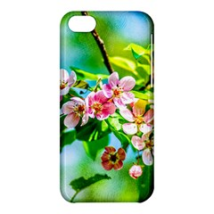 Crab Apple Flowers Apple Iphone 5c Hardshell Case by FunnyCow