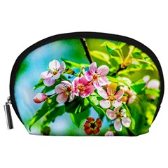 Crab Apple Flowers Accessory Pouches (large)  by FunnyCow