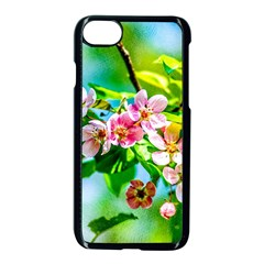 Crab Apple Flowers Apple Iphone 7 Seamless Case (black) by FunnyCow