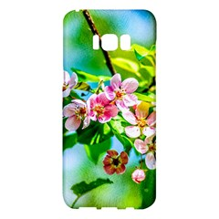 Crab Apple Flowers Samsung Galaxy S8 Plus Hardshell Case  by FunnyCow