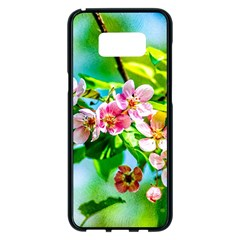 Crab Apple Flowers Samsung Galaxy S8 Plus Black Seamless Case by FunnyCow