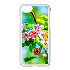 Crab Apple Flowers Apple Iphone 8 Seamless Case (white) by FunnyCow