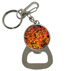 Orange, Yellow Cotoneaster Leaves In Autumn Bottle Opener Key Chains by FunnyCow
