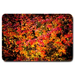 Orange, Yellow Cotoneaster Leaves In Autumn Large Doormat  by FunnyCow