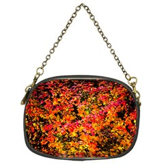 Orange, Yellow Cotoneaster Leaves In Autumn Chain Purses (one Side)  by FunnyCow