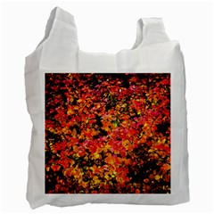 Orange, Yellow Cotoneaster Leaves In Autumn Recycle Bag (two Side)  by FunnyCow