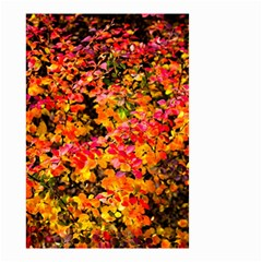 Orange, Yellow Cotoneaster Leaves In Autumn Small Garden Flag (two Sides) by FunnyCow