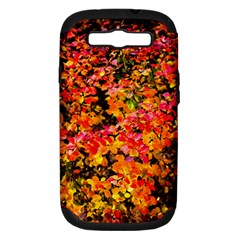 Orange, Yellow Cotoneaster Leaves In Autumn Samsung Galaxy S Iii Hardshell Case (pc+silicone) by FunnyCow