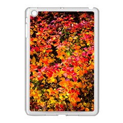 Orange, Yellow Cotoneaster Leaves In Autumn Apple Ipad Mini Case (white) by FunnyCow