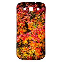 Orange, Yellow Cotoneaster Leaves In Autumn Samsung Galaxy S3 S Iii Classic Hardshell Back Case by FunnyCow