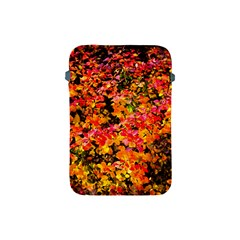 Orange, Yellow Cotoneaster Leaves In Autumn Apple Ipad Mini Protective Soft Cases by FunnyCow