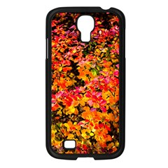 Orange, Yellow Cotoneaster Leaves In Autumn Samsung Galaxy S4 I9500/ I9505 Case (black) by FunnyCow