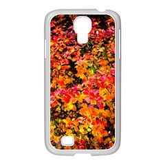Orange, Yellow Cotoneaster Leaves In Autumn Samsung Galaxy S4 I9500/ I9505 Case (white) by FunnyCow