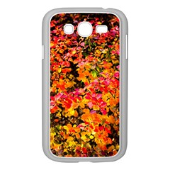 Orange, Yellow Cotoneaster Leaves In Autumn Samsung Galaxy Grand Duos I9082 Case (white) by FunnyCow