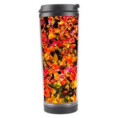 Orange, Yellow Cotoneaster Leaves In Autumn Travel Tumbler by FunnyCow