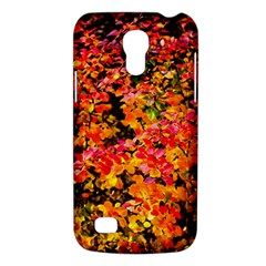 Orange, Yellow Cotoneaster Leaves In Autumn Samsung Galaxy S4 Mini (gt I9190) Hardshell Case  by FunnyCow