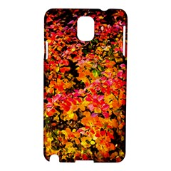 Orange, Yellow Cotoneaster Leaves In Autumn Samsung Galaxy Note 3 N9005 Hardshell Case by FunnyCow