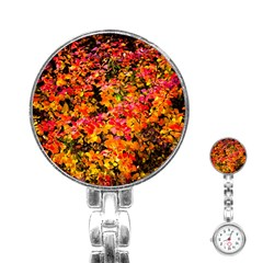 Orange, Yellow Cotoneaster Leaves In Autumn Stainless Steel Nurses Watch by FunnyCow