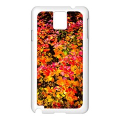 Orange, Yellow Cotoneaster Leaves In Autumn Samsung Galaxy Note 3 N9005 Case (white) by FunnyCow