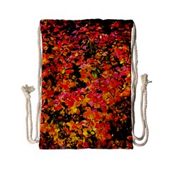 Orange, Yellow Cotoneaster Leaves In Autumn Drawstring Bag (small) by FunnyCow