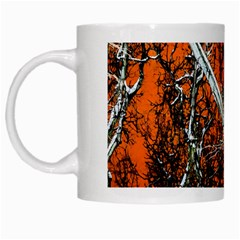 Red Night Of Winter White Mugs by FunnyCow