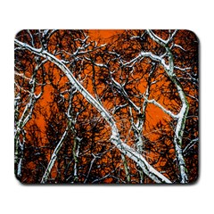 Red Night Of Winter Large Mousepads by FunnyCow