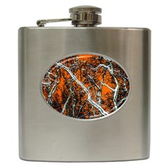 Red Night Of Winter Hip Flask (6 Oz) by FunnyCow