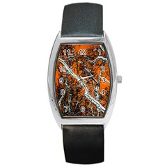 Red Night Of Winter Barrel Style Metal Watch by FunnyCow
