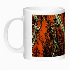 Red Night Of Winter Night Luminous Mugs by FunnyCow
