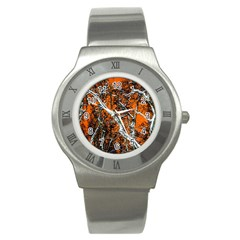 Red Night Of Winter Stainless Steel Watch by FunnyCow