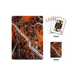 Red Night Of Winter Playing Cards (mini)  by FunnyCow