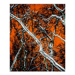 Red Night Of Winter Shower Curtain 60  X 72  (medium)  by FunnyCow