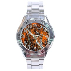 Red Night Of Winter Stainless Steel Analogue Watch by FunnyCow