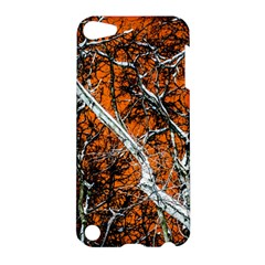 Red Night Of Winter Apple Ipod Touch 5 Hardshell Case by FunnyCow