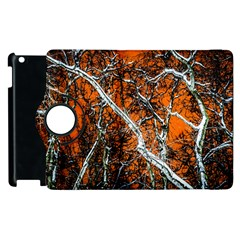 Red Night Of Winter Apple Ipad 2 Flip 360 Case by FunnyCow