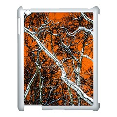 Red Night Of Winter Apple Ipad 3/4 Case (white) by FunnyCow