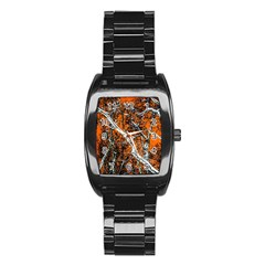 Red Night Of Winter Stainless Steel Barrel Watch by FunnyCow