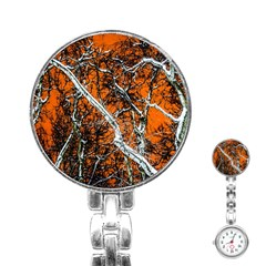 Red Night Of Winter Stainless Steel Nurses Watch by FunnyCow