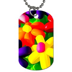 Toy Balloon Flowers Dog Tag (one Side) by FunnyCow