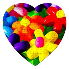 Toy Balloon Flowers Jigsaw Puzzle (heart) by FunnyCow