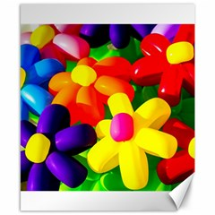 Toy Balloon Flowers Canvas 8  X 10  by FunnyCow