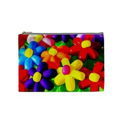 Toy Balloon Flowers Cosmetic Bag (medium) by FunnyCow