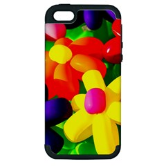 Toy Balloon Flowers Apple Iphone 5 Hardshell Case (pc+silicone) by FunnyCow