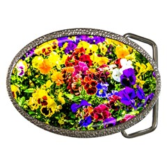 Viola Tricolor Flowers Belt Buckles by FunnyCow