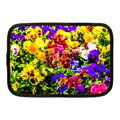 Viola Tricolor Flowers Netbook Case (medium)  by FunnyCow