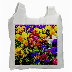 Viola Tricolor Flowers Recycle Bag (one Side) by FunnyCow